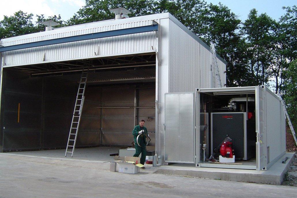 Beheizung Trockenkammern Holzindustrie