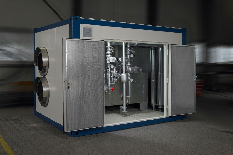Anlagentechnik im Sondercontainer
