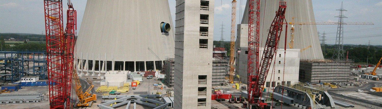 Kohlekraftwerk betonbauweise